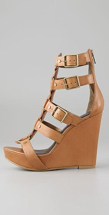 Pelle Moda Yaritza Platform Wedge Sandals