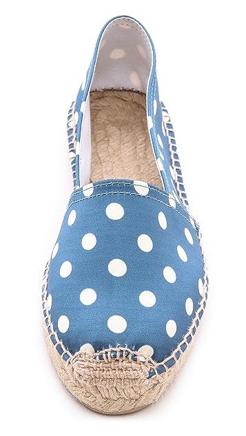 Penelope Chilvers Polka Dot Espadrille Flats
