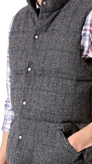 Penfield Outback Moon Tweed Puffer Vest