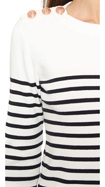 Petit Bateau Knit Striped Sweater