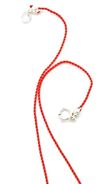Petite Grand Multi Bead Cord Necklace