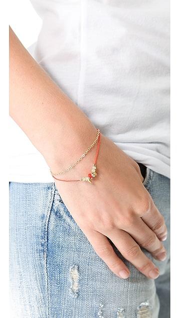 Petite Grand Cord & Chain Wrap Bracelet