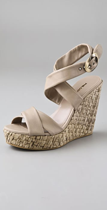 Philosophy di Lorenzo Serafini Ankle Wrap Wedge Sandals
