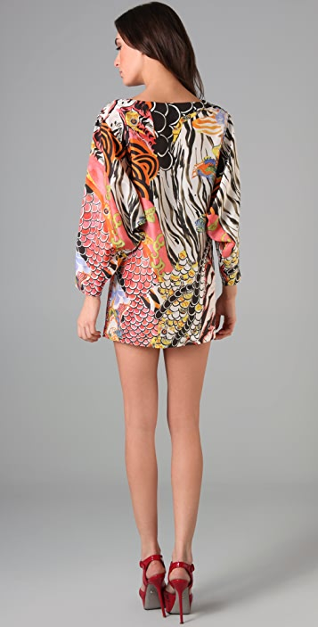 Philosophy di Lorenzo Serafini Print Dolman Sleeve Dress