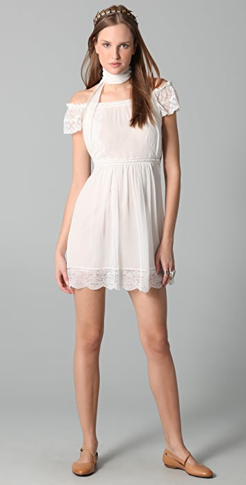 Philosophy di Lorenzo Serafini Open Shoulder Mini Dress