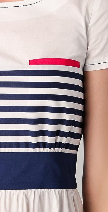 Philosophy di Lorenzo Serafini Striped Dress with Pink Pockets