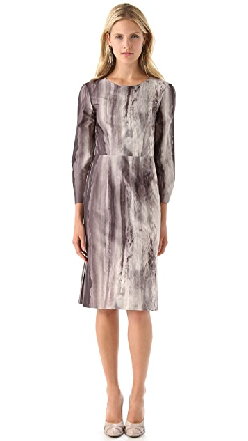 Philosophy di Lorenzo Serafini Print Crepe Dress