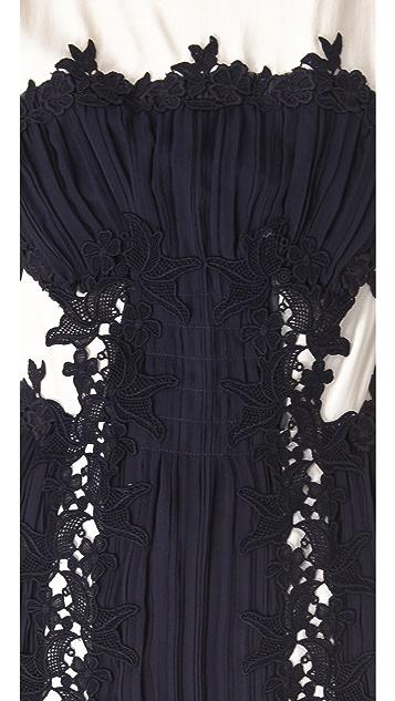 Philosophy di Lorenzo Serafini Lace Applique Dress