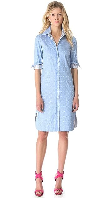 Philosophy di Lorenzo Serafini Jacquard Shirtdress