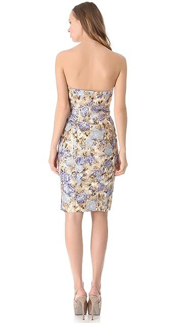 Philosophy di Lorenzo Serafini Strapless Floral Dress