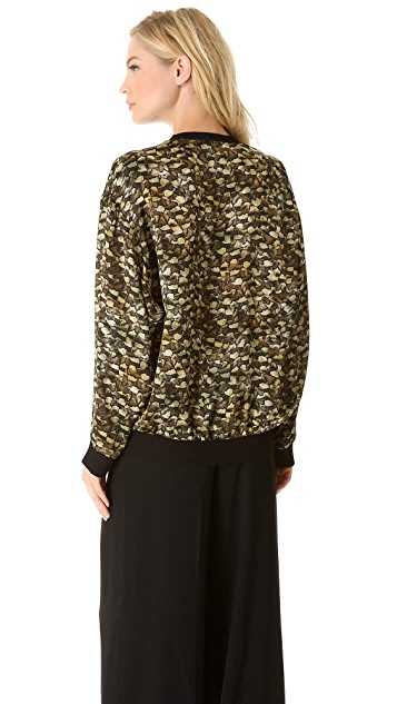 Philosophy di Lorenzo Serafini Printed Satin Top