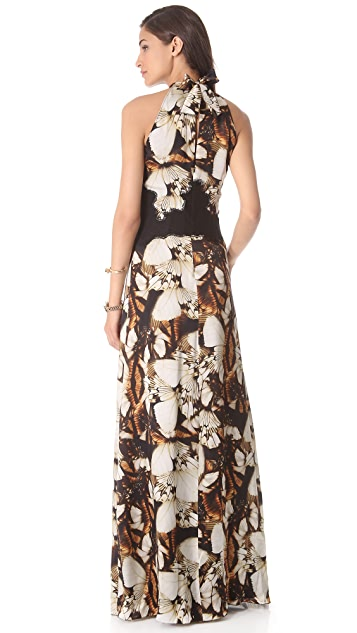 Philosophy di Lorenzo Serafini Butterfly Print Gown