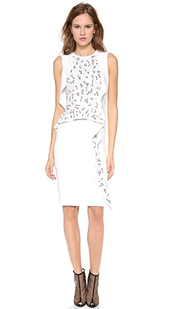 Philosophy di Lorenzo Serafini Sleeveless Embroidered Dress