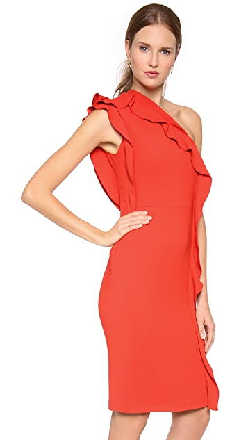 Philosophy di Lorenzo Serafini One Shoulder Ruffle Dress