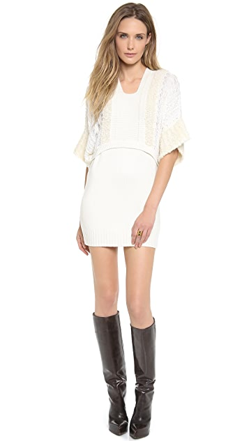 Philosophy di Lorenzo Serafini Short Sleeve Sweater Dress