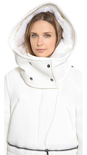 Philosophy di Lorenzo Serafini Neoprene Fur Coat