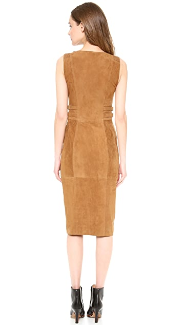 Philosophy di Lorenzo Serafini Sleeveless Suede Dress
