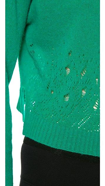 Philosophy di Lorenzo Serafini Cropped Pointelle Sweater