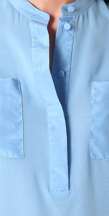 3.1 Phillip Lim Henley Blouse with Tassel Cuffs