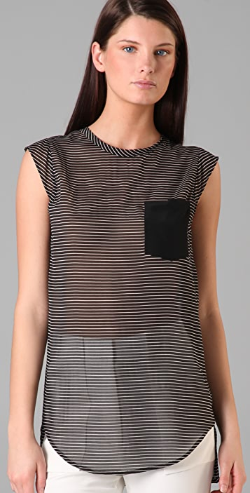 3.1 Phillip Lim Striped Pocket Top