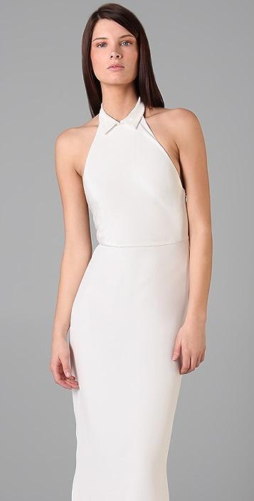 3.1 Phillip Lim Shirt Collar Halter Gown