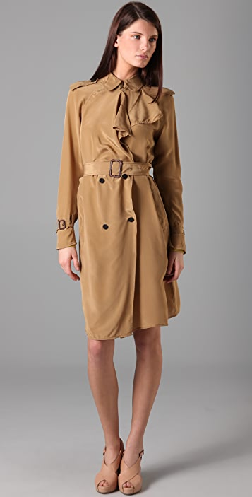 3.1 Phillip Lim 3.1 Trench Coat with Storm Flap Tie