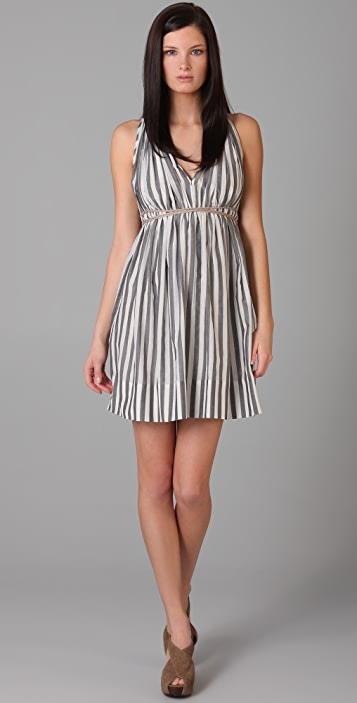 3.1 Phillip Lim Sleeveless Dress with Rope Trim