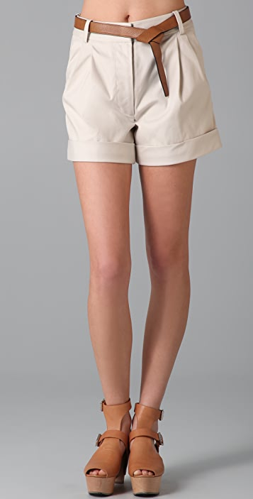 3.1 Phillip Lim Cuffed Shorts with Wrap Belt