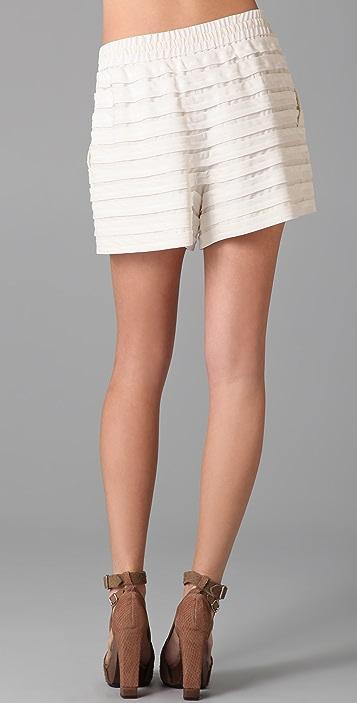 3.1 Phillip Lim Floating Stripe Drawstring Shorts