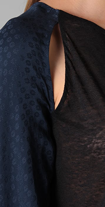 3.1 Phillip Lim Twist Cuff Tee with Open Tie Back