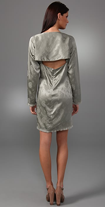 3.1 Phillip Lim Long Sleeve Dress with Open Back Flounce