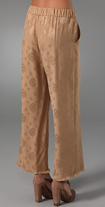3.1 Phillip Lim Cropped Wide Leg Fringe Trousers