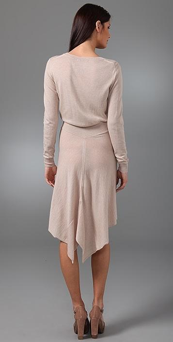 3.1 Phillip Lim Long Sleeve Dress with Drape Back Skirt