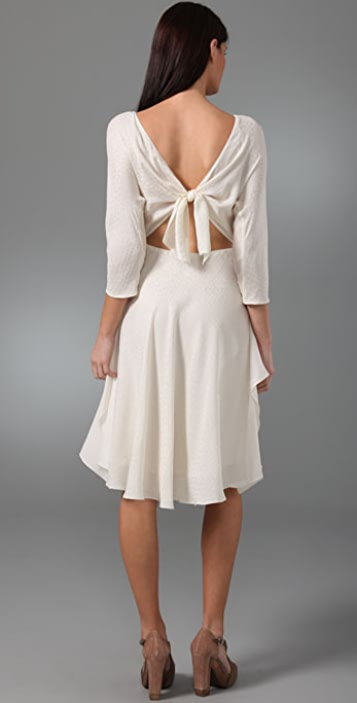 3.1 Phillip Lim Mix Jacquard Dress with Open Tie Back