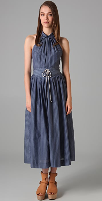 3.1 Phillip Lim Lace Up Halter Dress