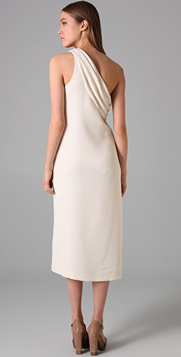 3.1 Phillip Lim Draped One Shoulder Dress