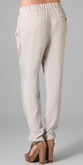 3.1 Phillip Lim Draped Tapered Trousers with Chiffon Ribbon