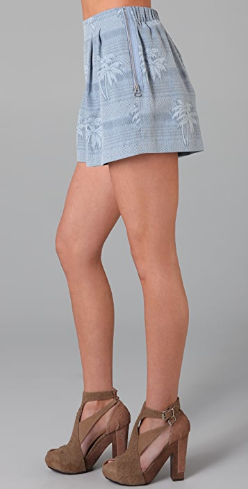 3.1 Phillip Lim Pleated Shorts with Zip Pockets