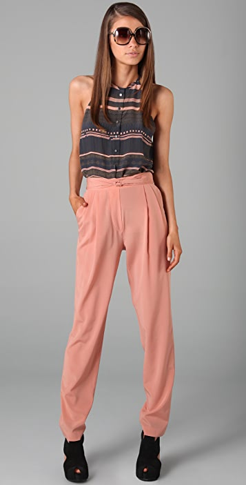 3.1 Phillip Lim Knot Front Tapered Trousers