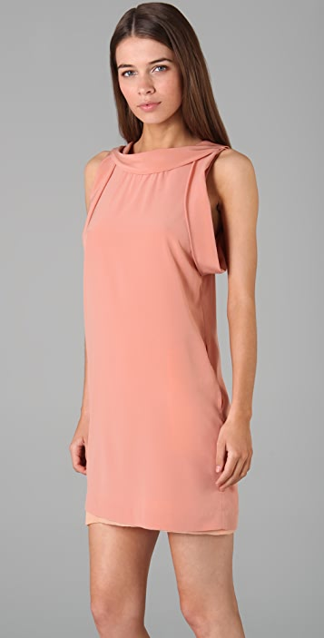 3.1 Phillip Lim Cowl Neck Scoop Back Dress