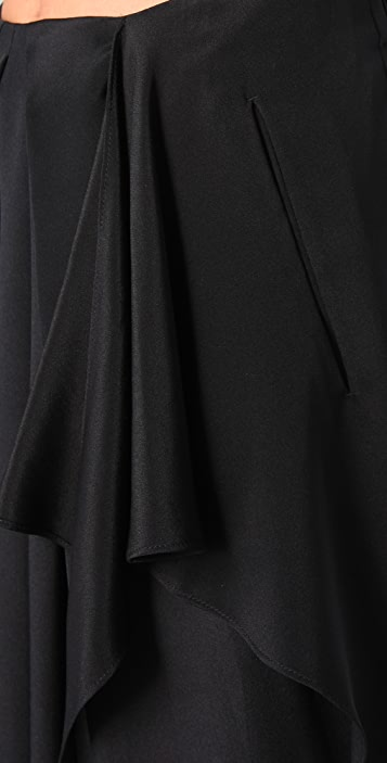 3.1 Phillip Lim Draped Tie Front Skirt