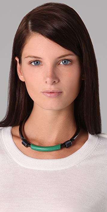 3.1 Phillip Lim Single Leather Circuit Collar Necklace