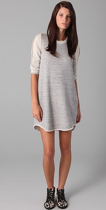 3.1 Phillip Lim 3/4 Sleeve Terry Dress