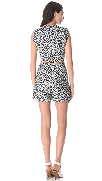 3.1 Phillip Lim Lapel Romper with Skinny Belt