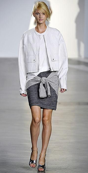 3.1 Phillip Lim Sweatshirt Skirt with Waist Tie