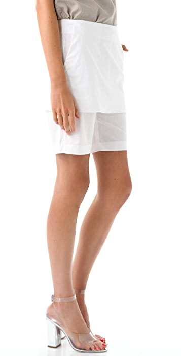 3.1 Phillip Lim Bermuda Shorts with Skirt Overlay