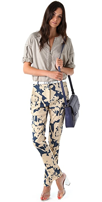 3.1 Phillip Lim Slim Trousers with Skirt Overlay
