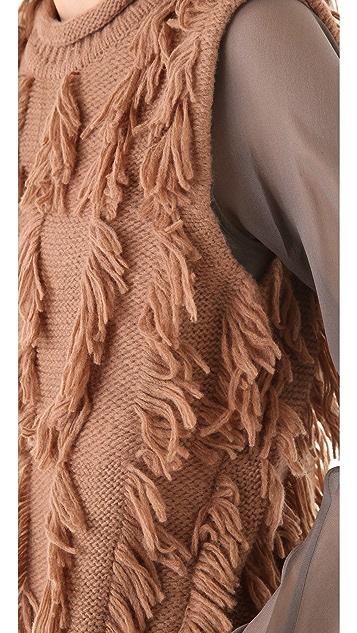 3.1 Phillip Lim Fringe Intarsia Sleeveless Tunic