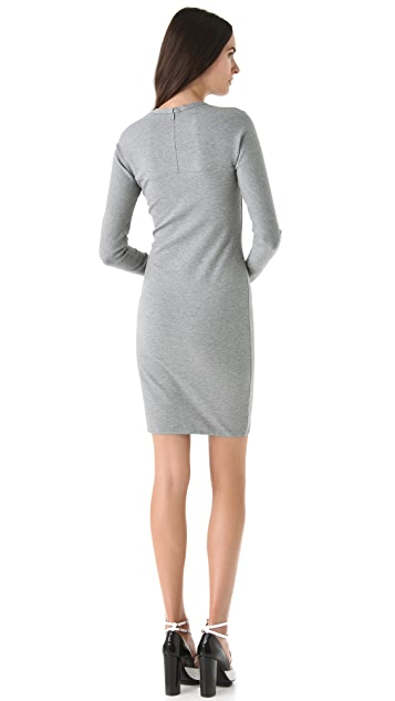 3.1 Phillip Lim Long Sleeve Notch Dress