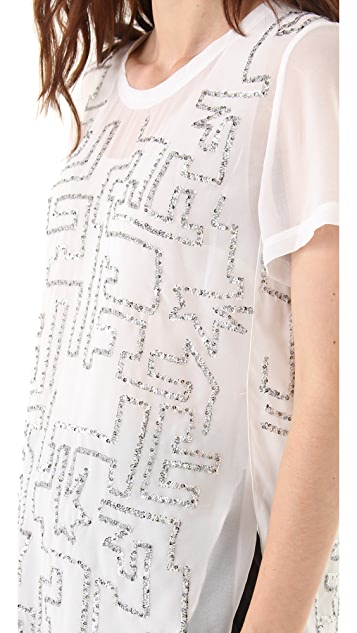 3.1 Phillip Lim Maze Embroidery Tee